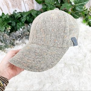 Marled Tan Tweed Speckled Women's Baseball Hat EUC